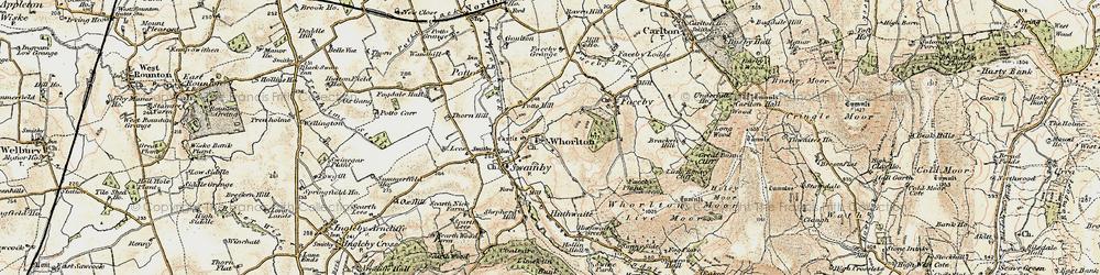 Old map of Whorlton in 1903-1904