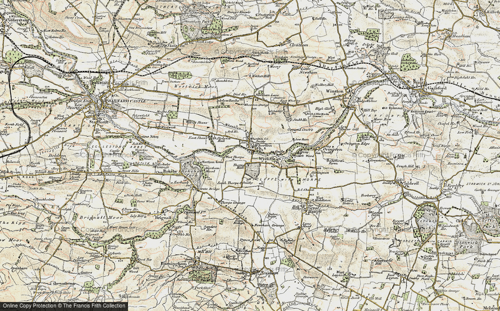 Old Map of Whorlton, 1904 in 1904