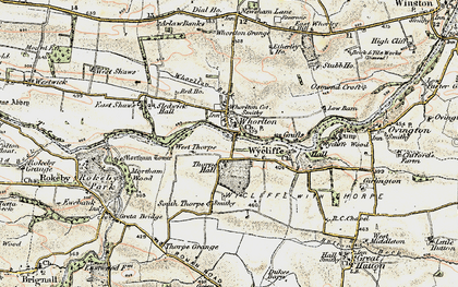 Old map of West Thorpe in 1904