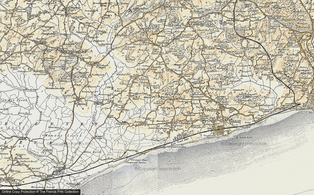 Old Map of Whydown, 1898 in 1898