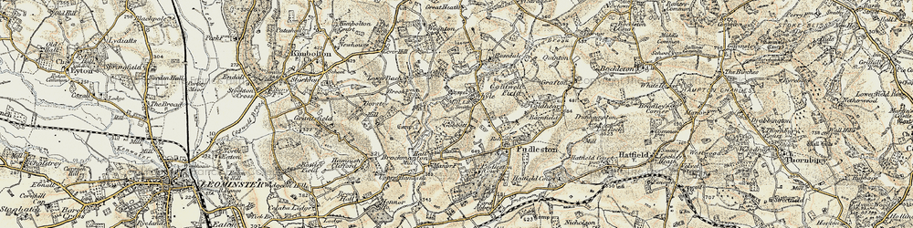 Old map of Whyle in 1899-1902