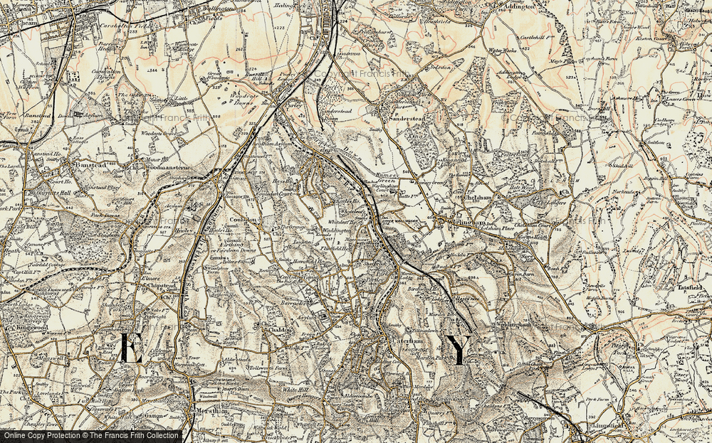 Old Map of Whyteleafe, 1897-1902 in 1897-1902