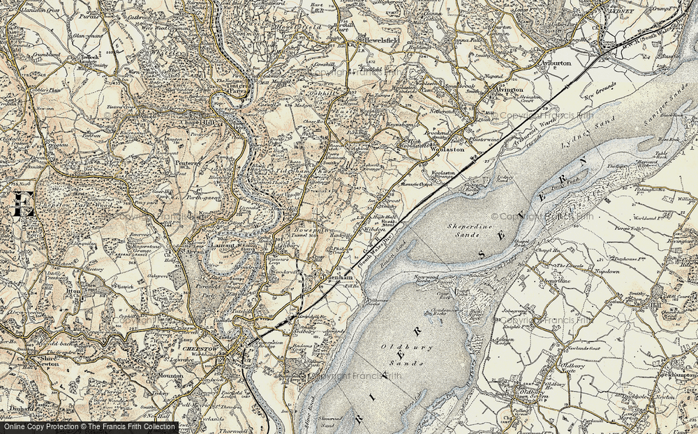 Old Map of Wibdon, 1899-1900 in 1899-1900