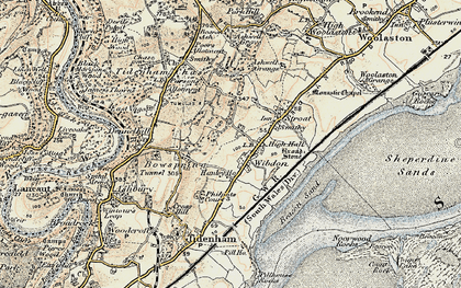 Old map of Wibdon in 1899-1900