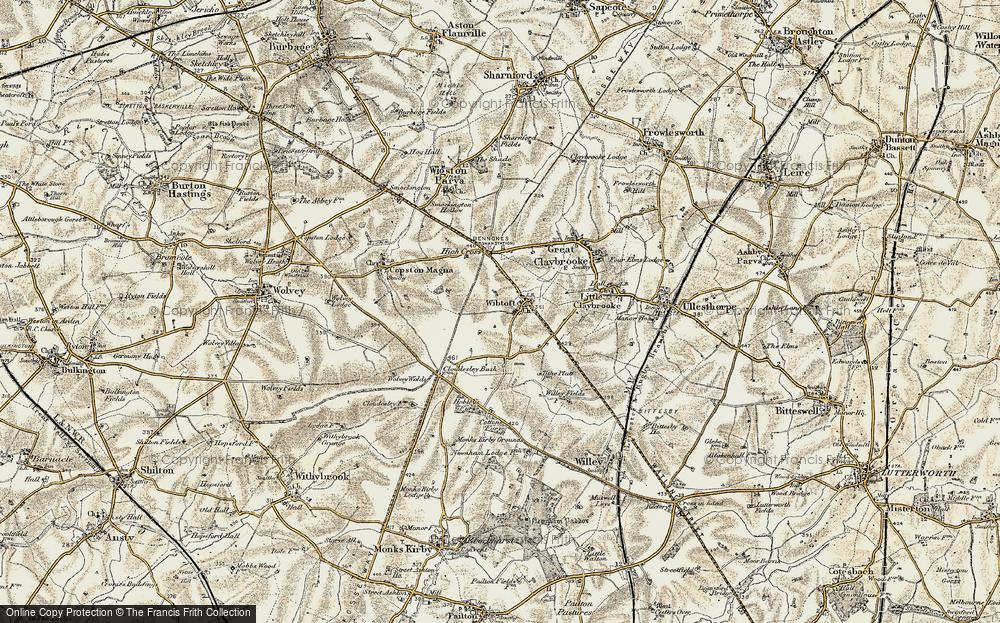 Old Map of Wibtoft, 1901-1902 in 1901-1902