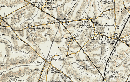 Old map of Wibtoft in 1901-1902
