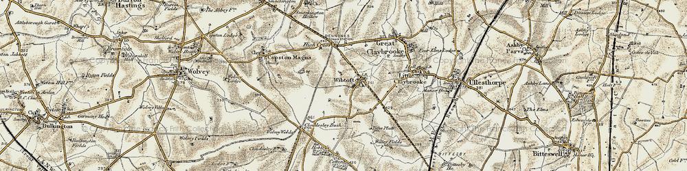 Old map of Wibtoft in 1901-1902