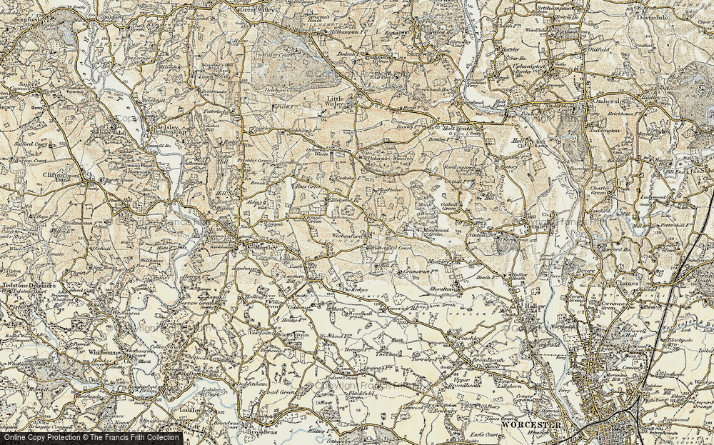 Old Map of Wichenford, 1899-1902 in 1899-1902
