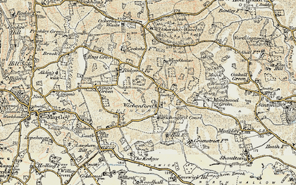 Old map of Wichenford in 1899-1902