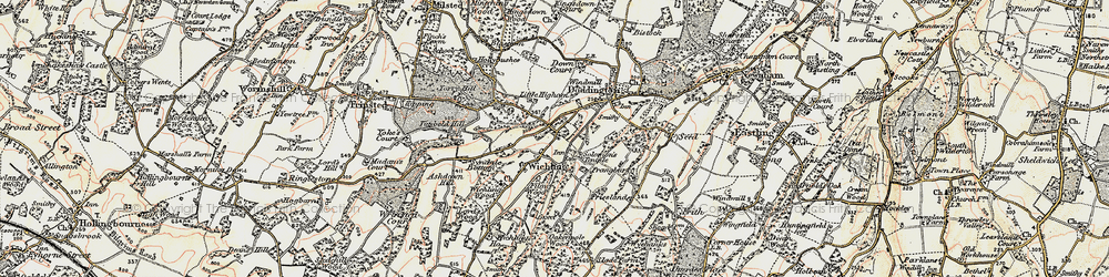 Old map of Wichling in 1897-1898