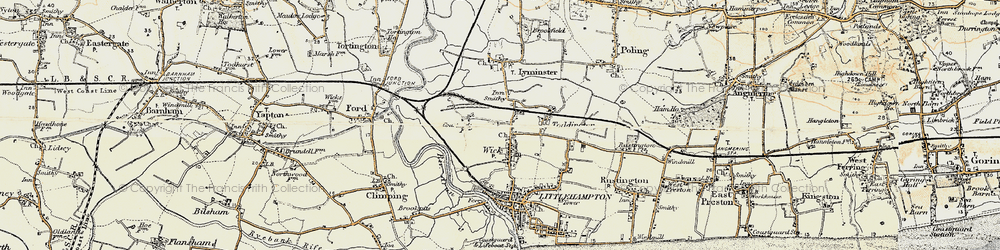 Old map of Wick in 1897-1899