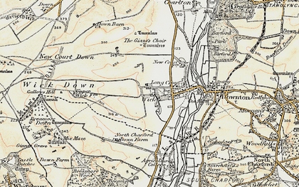 Old map of Wick in 1897-1909