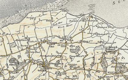 Old map of Wick in 1898-1900