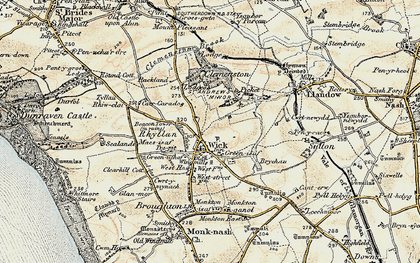 Old map of Wick in 1899-1900