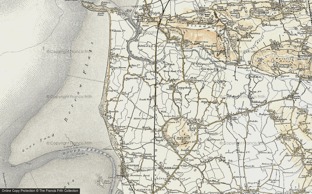 Old Map of Wick, 1899-1900 in 1899-1900