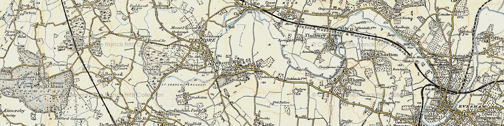 Old map of Wick in 1899-1901