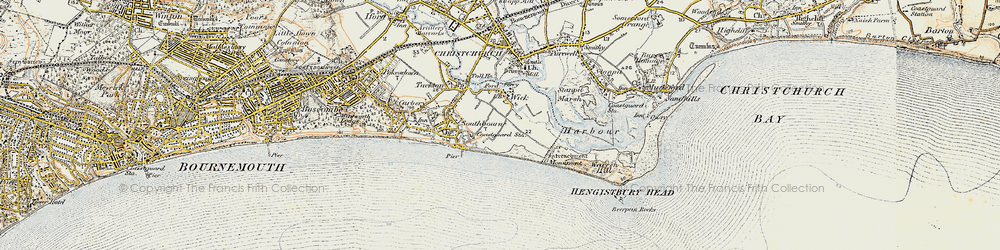 Old map of Wick in 1899-1909