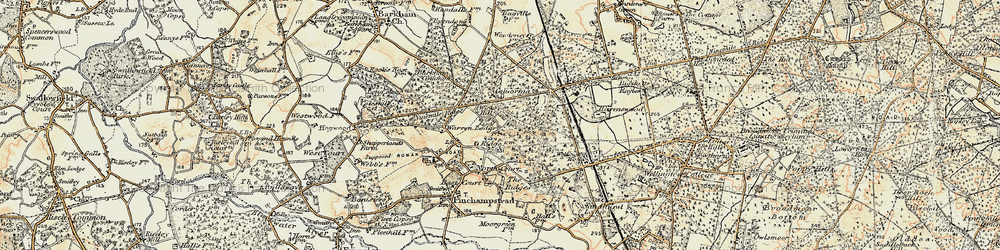 Old map of Wick Hill in 1897-1909