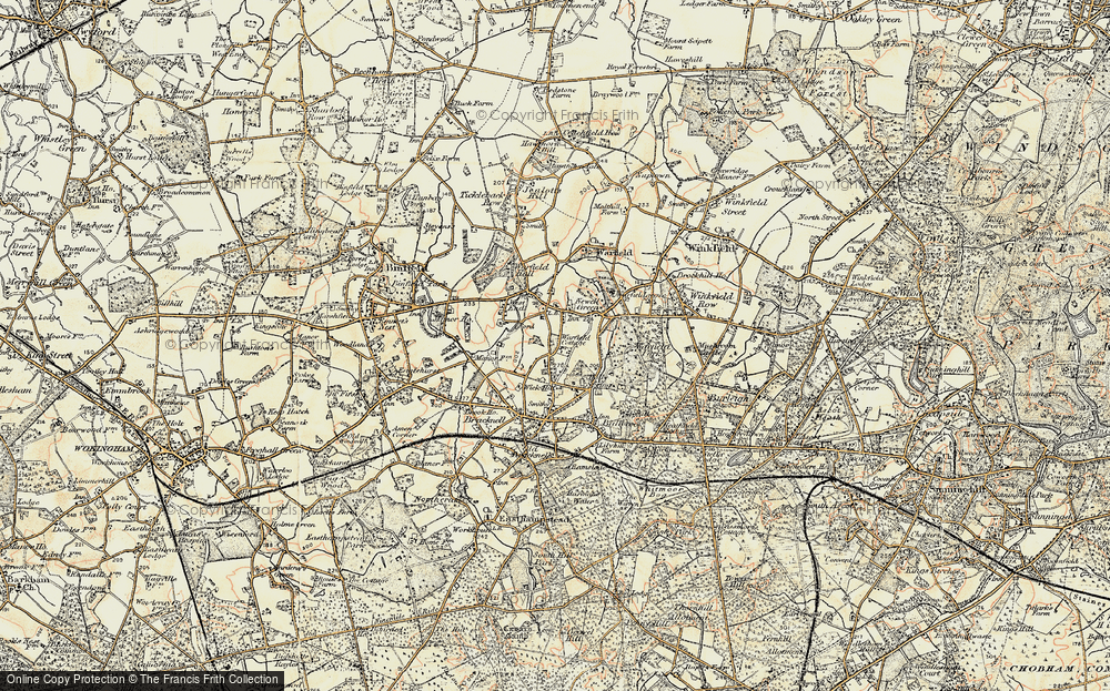 Old Map of Wick Hill, 1897-1909 in 1897-1909