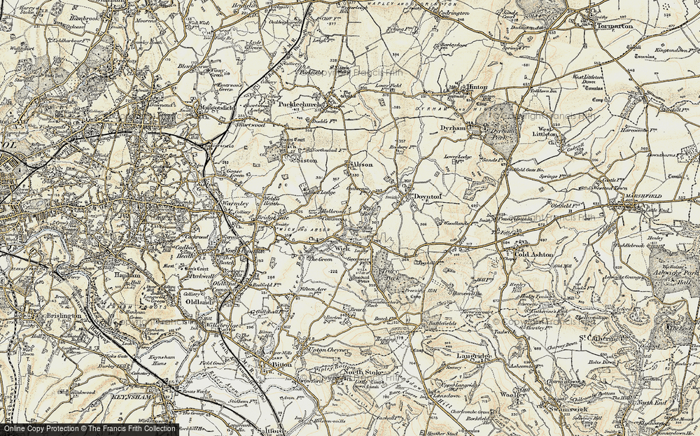 Old Map of Wick Rocks, 1899 in 1899