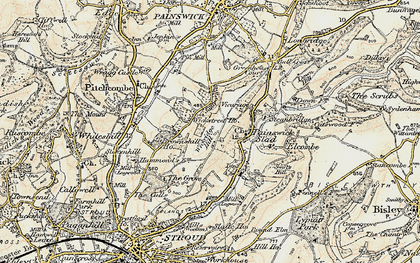 Old map of Wickridge Hill in 1898-1900
