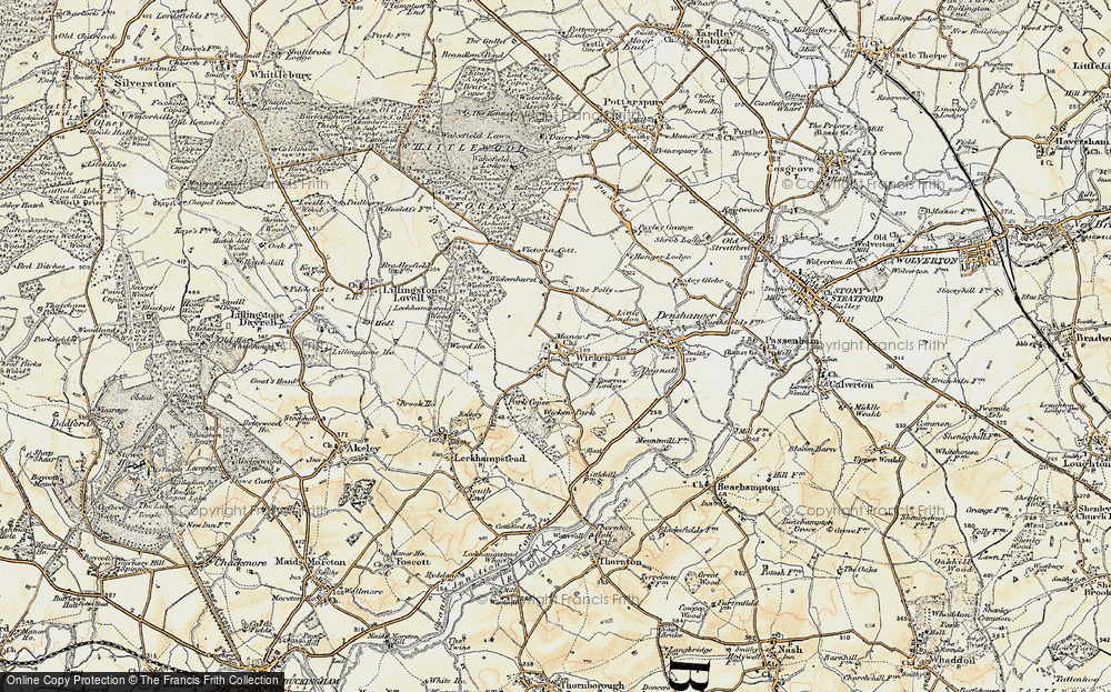 Old Map of Wicken, 1898-1901 in 1898-1901