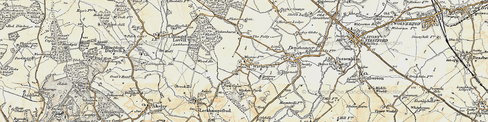 Old map of Wicken in 1898-1901