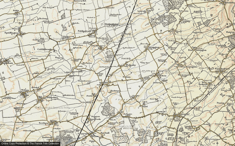 Old Map of Wickenby, 1902-1903 in 1902-1903