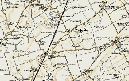 Old map of Wickenby in 1902-1903