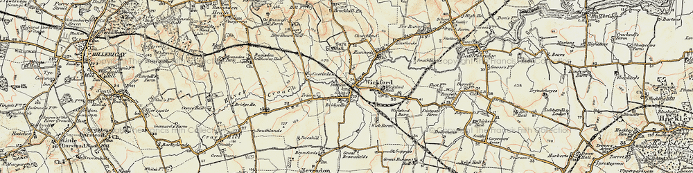 Old map of Wickford in 1898