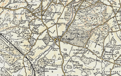 Old map of Wickham in 1897-1899