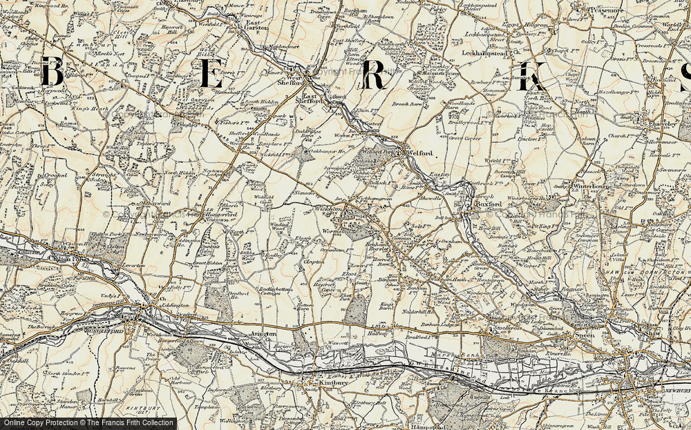 Old Map of Historic Map covering Wormstall in 1897-1900