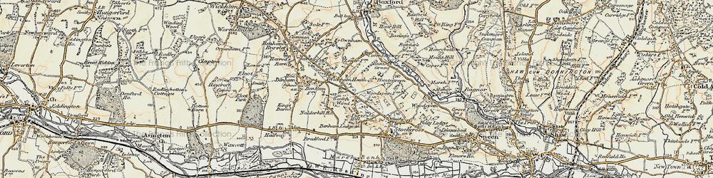 Old map of Wickham Heath in 1897-1900