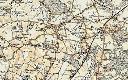 Old map of Ash Abbey in 1898-1901