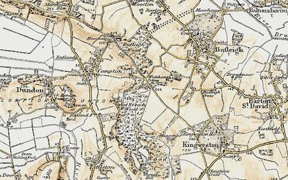 Old map of Wickham's Cross in 1899
