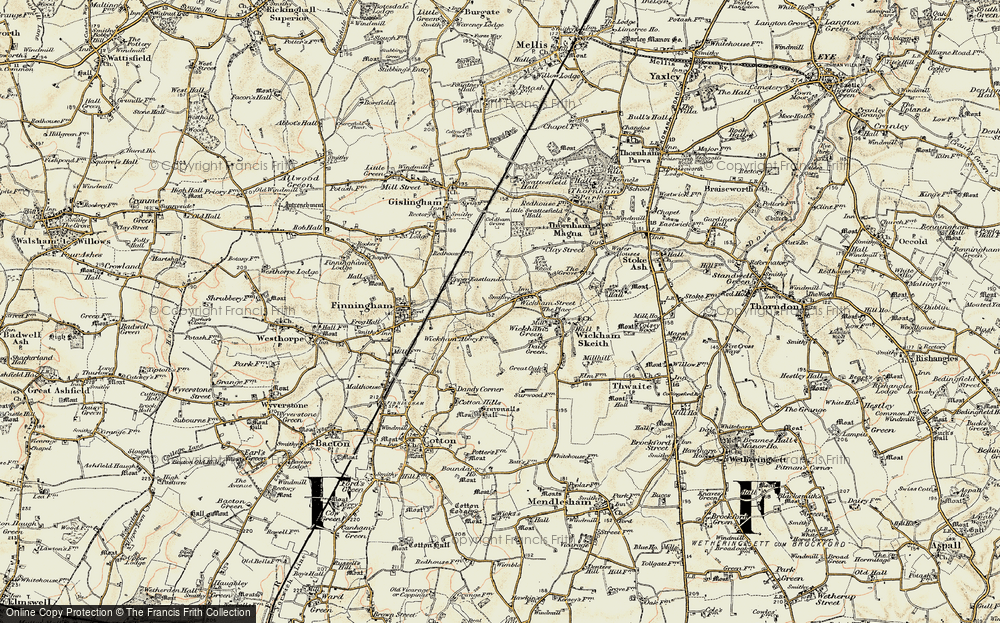 Old Map of Wickham Street, 1901 in 1901