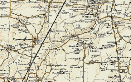 Old map of Wickham Street in 1901