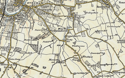 Old map of Badsey Brook in 1899-1901