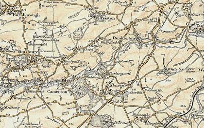 Old map of Wicklane in 1899