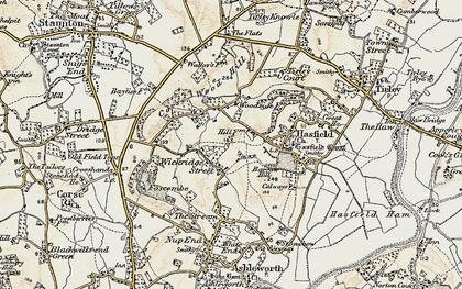 Old map of Wickridge Street in 1899-1900