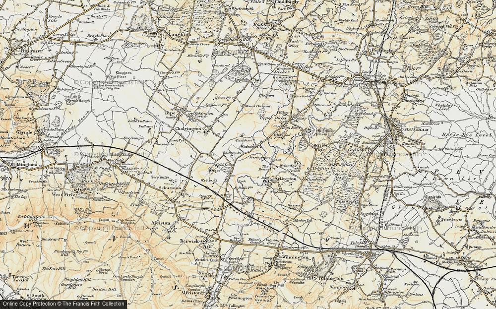 Old Map of Wickstreet, 1898 in 1898