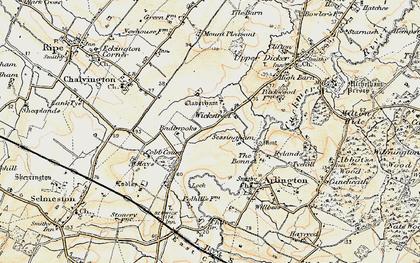 Old map of Wickstreet in 1898