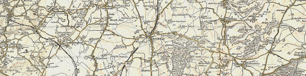 Old map of Wickwar in 1898-1899