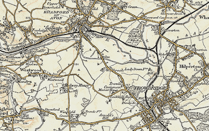Old map of Widbrook in 1898-1899