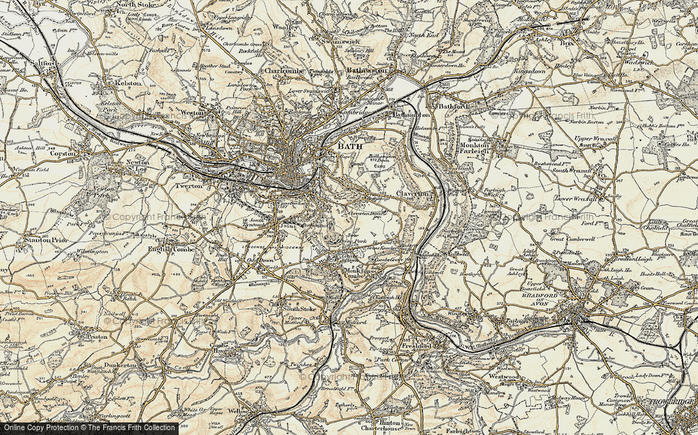 Old Map of Widcombe, 1898-1899 in 1898-1899