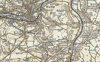 Old map of Widcombe in 1898-1899