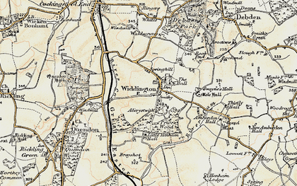 Old map of Widdington in 1898-1899