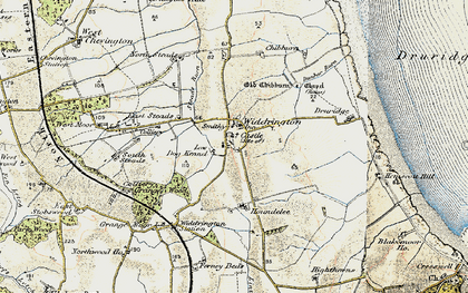 Old map of Widdrington in 1901-1903
