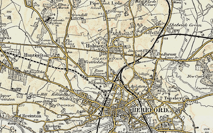 Old map of Widemarsh in 1900-1901