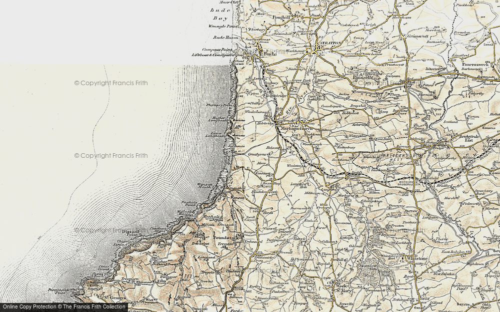 Old Map of Widemouth Bay, 1900 in 1900